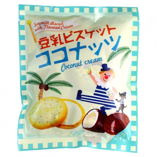 カルディオリジナル 豆乳ビスケット ココナッツクリーム 10p