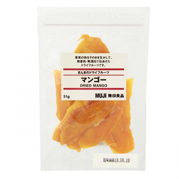 無印良品 オススメ お菓子 まんまのドライフルーツ マンゴー 51g