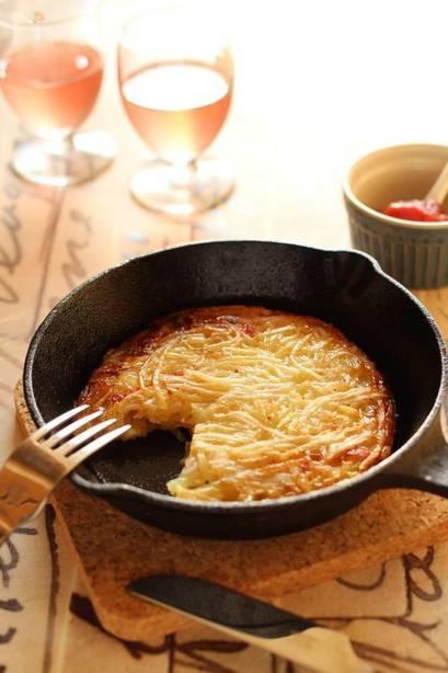 イタリアンの朝ごはん レシピ ポテト&ベーコン・ガレット