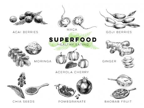 スーパーフードを知ろう!35種類のスーパーフードの効果と食べ方