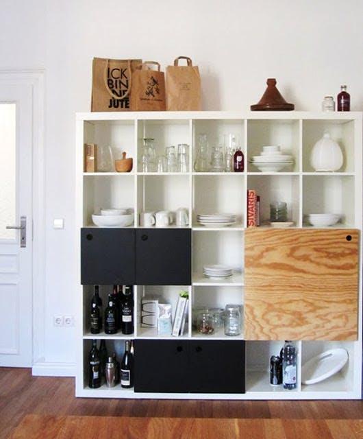 ikeaの棚をリメイクしてキッチン収納に。 [ikea hacks]