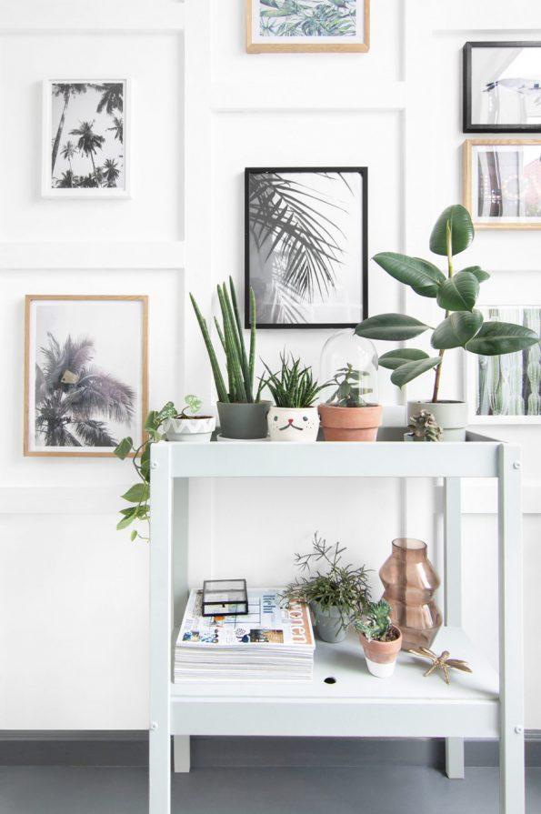 ikeaの棚をリメイクして植物のスペースに [ikea hacks]