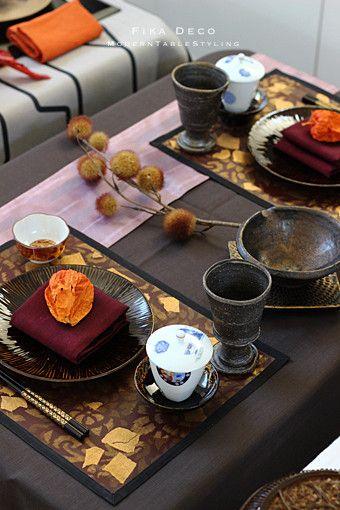 冬の食卓 テーブルセッティング