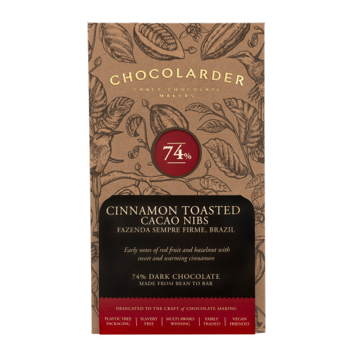 chocolarder Cinnamon Toasted Nibbed Cacao 74% Dark チョコレート