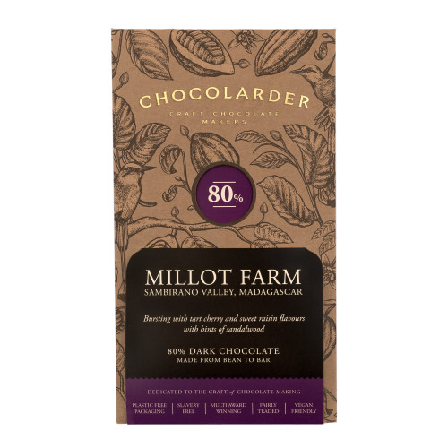 chocolarder Millot Farm 80% Dark チョコレート
