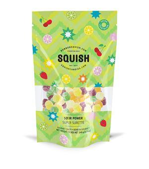 海外の輸入お菓子 グミ カナダ Squish VEGAN SOUR POWER ビーガン