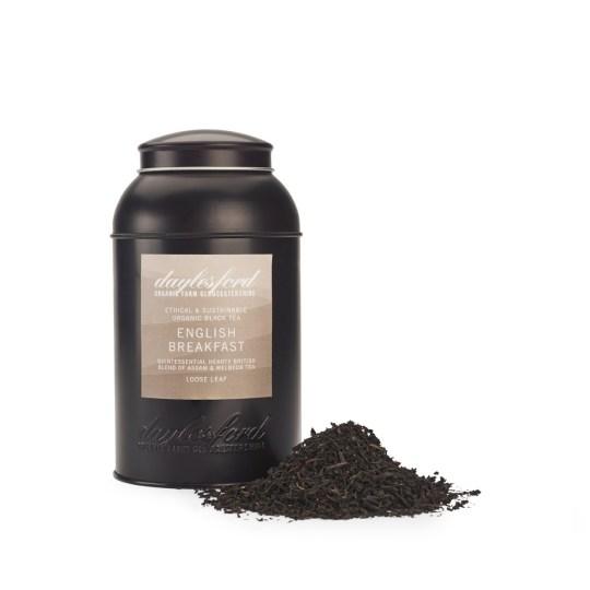 海外の輸入紅茶 イギリス daylesford ORGANIC ENGLISH BREAKFAST LOOSE LEAF TEA CADDY 180G イングリッシュブレックファーストティー