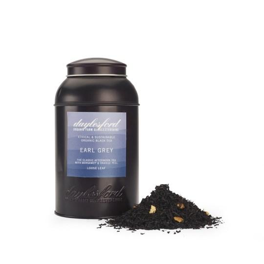 海外の輸入紅茶 イギリス daylesford ORGANIC EARL GREY LOOSE LEAF TEA CADDY 180G アールグレイティー