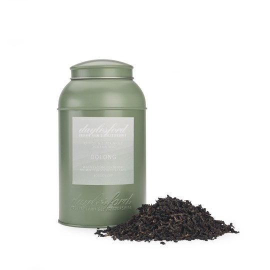 海外の輸入紅茶 イギリス daylesford ORGANIC OOLONG LOOSE LEAF TEA CADDY 190G ウーロンティー