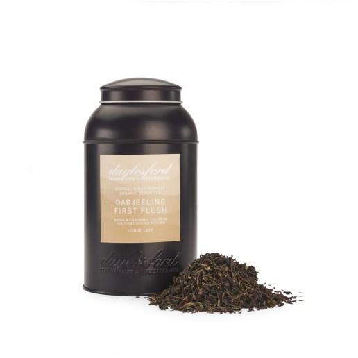 海外の輸入紅茶 イギリス daylesford ORGANIC DARJEELING FIRST FLUSH LOOSE LEAF TEA CADDY 160G  ダージリンティー