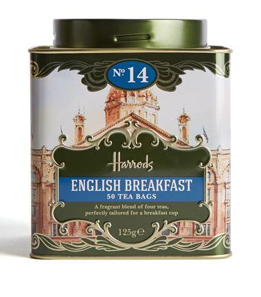 海外の輸入紅茶 イギリス harrods No. 14 English Breakfast (50 Tea Bags) イングリッシュブレックファーストティー