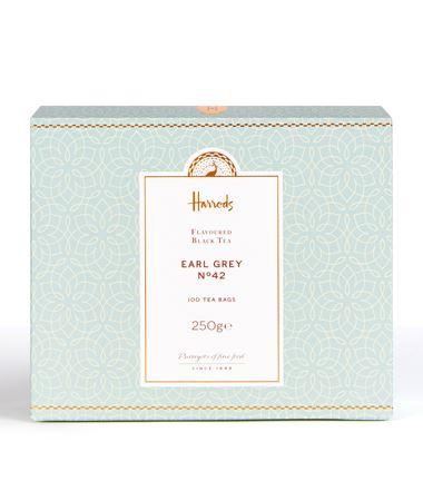 海外の輸入紅茶 イギリス harrods No. 42 Earl Grey Tea (100 Tea Bags)  アールグレイティー