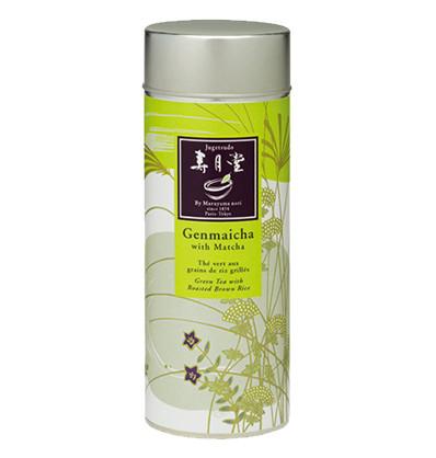 海外の輸入お茶 jugetsudousa genmaicha tin Organic Genmaicha with Matcha  玄米茶と抹茶