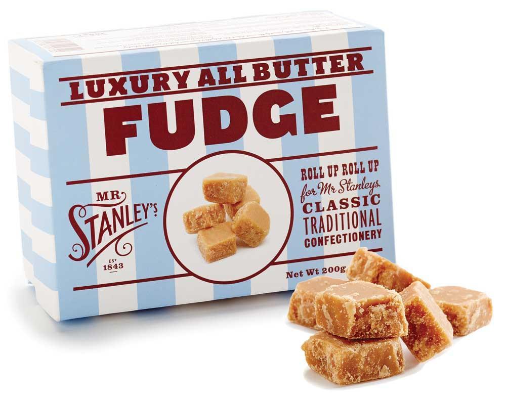 海外の輸入お菓子 ファッジ  イギリス mrstanleys BUTTER FUDGE バターファッジ