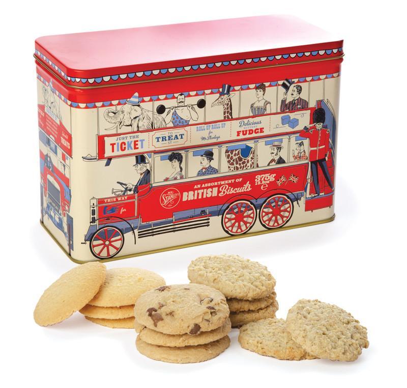 海外の輸入お菓子 ファッジ  イギリス mrstanleys  LONDON BUS ASSORTED BISCUITS ビスケット