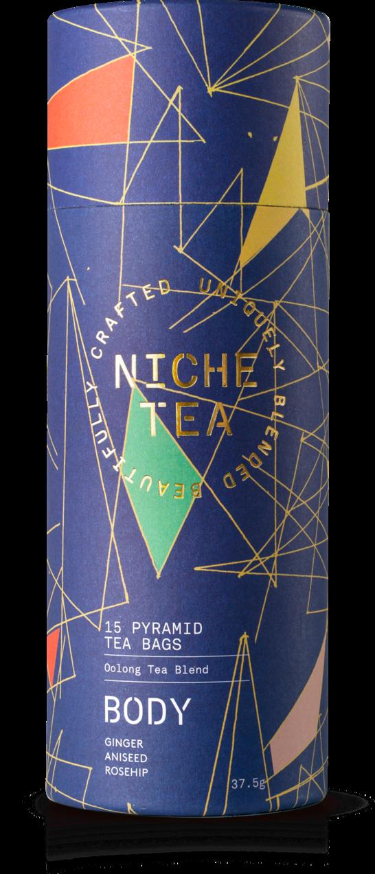 海外の輸入紅茶 イギリス niche BODY SLENDER — LIGHT — TRIM お茶