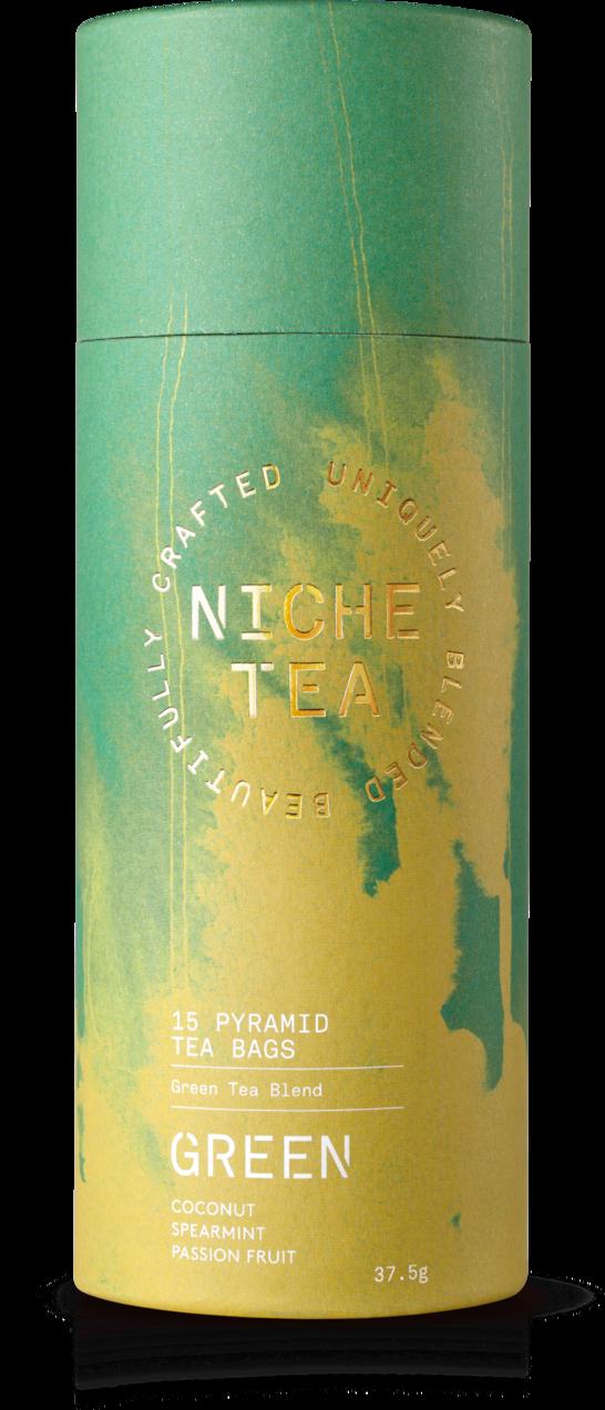 海外の輸入紅茶 イギリス niche GREEN DELICATE — REFRESHING — NOURISHING