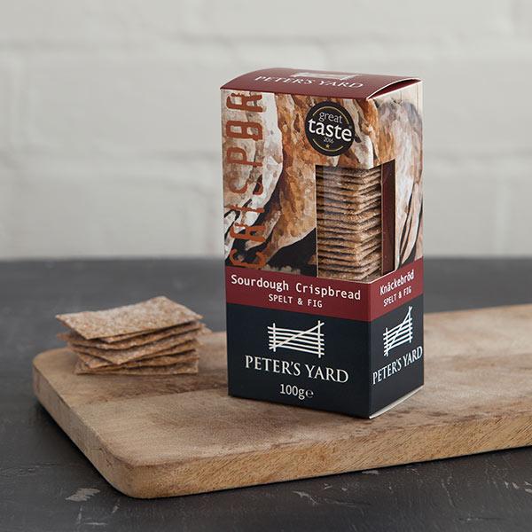 海外の輸入お菓子 スウェーデン petersyard Spelt & Fig crispbread クリスプ