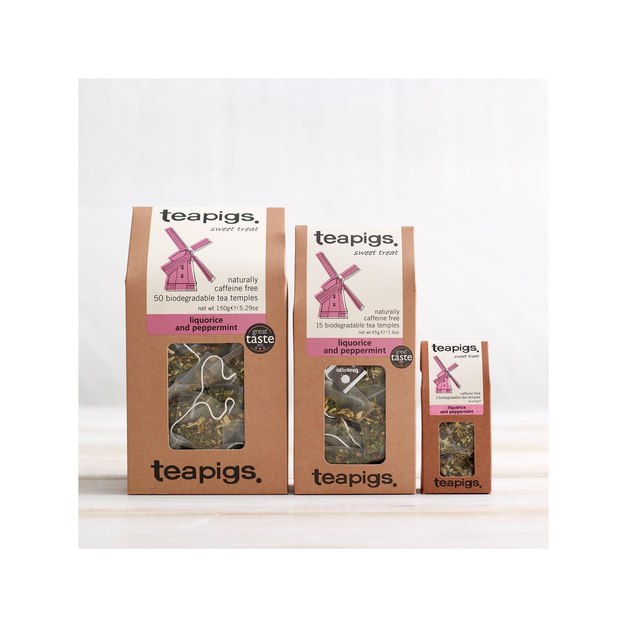 海外の輸入紅茶 紅茶 アメリカ teapig liquorice and mint sweet treat