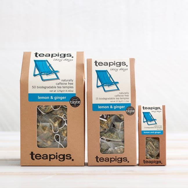 海外の輸入紅茶 紅茶 アメリカ teapig lemon and ginger lazy day
