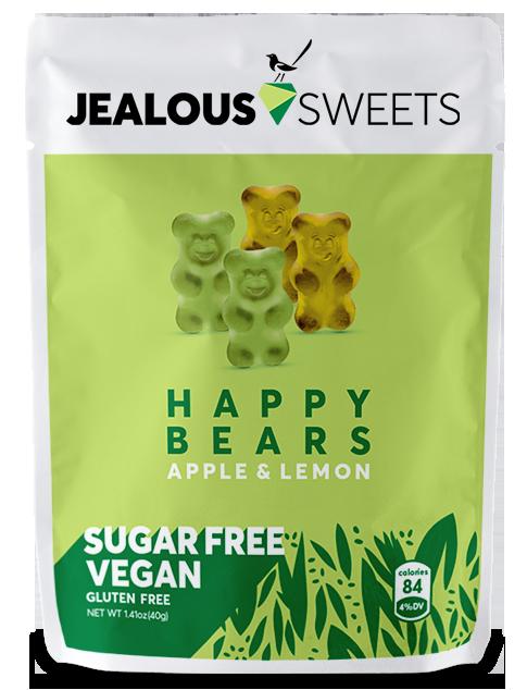 海外の輸入お菓子 グミ イギリス JEALOUS Sugar Free Happy Bears APPLE LEMON グミ ビーガン