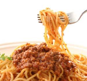 イカリスーパーのレトルト食品 いかり 冷凍スパゲティ  ボロネーゼ