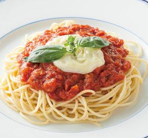 イカリスーパーのレトルト食品 いかり  冷凍スパゲティ  バジルとモッツァレラチーズ
